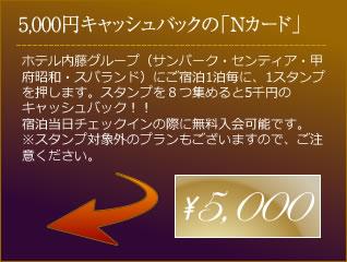 5,000円キャッシュバックの「Nカード」